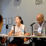HPD Commissioner Maria Torres-Springer (far left) at the table.