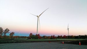 Jericho Rise Wind Farm is located in Franklin County in northern New York.
