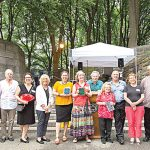 Honorees are feted at the park by Northern Manhattan Parks Administrator Jennifer Hoppa (far right, in red).