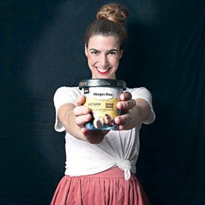 Paula Barbosa, of My Sweet Brigaideiro, shows off the Haagen Dazs collaboration.