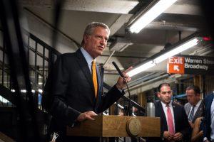 """New York City straphangers are smart people,"" said Mayor Bill de Blasio."