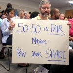 TWU Local 100 members called on the mayor to fund the action plan.
