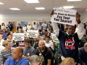 Members attended the monthly MTA board meeting en masse.