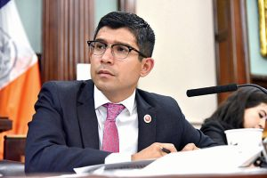 """We'll pass resolutions,"" remarked Councilmember Carlos Menchaca. Photo: John McCarten"