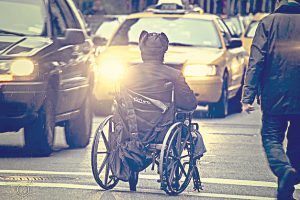 The class-action lawsuit charges discrimination against people with mobility impairments.