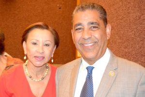 Congressman Adriano Espaillat with fellow U.S. Representative Nydia Velázquez.