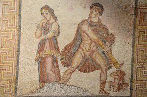Mosaic depicting Hercules.