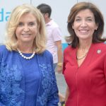 Congresswoman Carolyn Maloney (left) and Lt. Governor Kathy Hochul joined together.