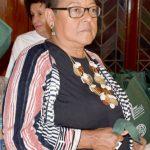 Estela Vázquez, 1199 SEIU Executive Vice President, serves on the parade board.