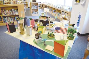 Students hand-constructed conceptual model cities.