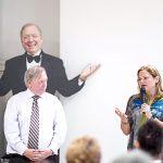 Council Speaker Melissa Mark-Viverito (right) with Executive Director William Dionne.