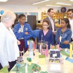 Schools Chancellor Carmen Fariña examined the models.