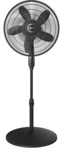 A fan helps dispel heat.