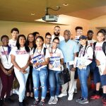 Eddie Cuesta with Dominicanos USA SYEP participants.