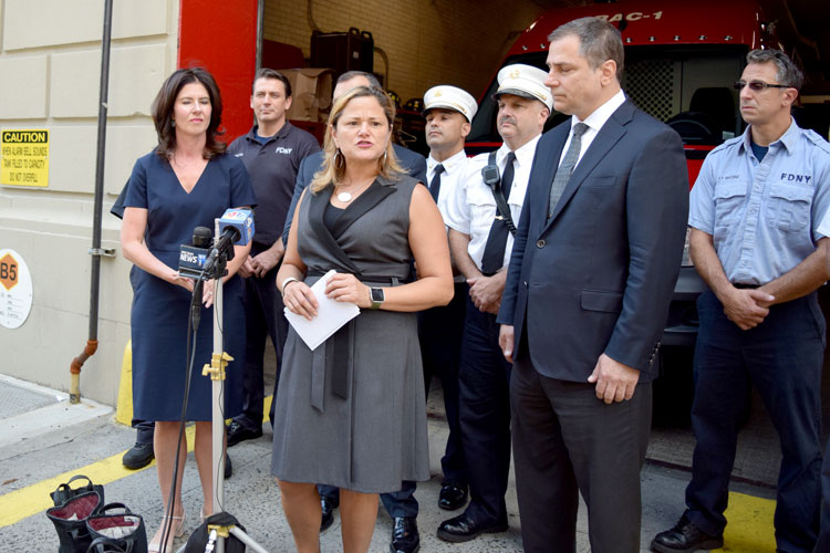 """Yours is truly a selfless profession,"" said City Council Speaker Melissa Mark-Viverito."