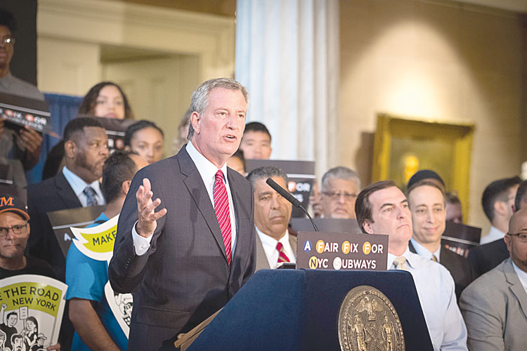 Mayor Bill de Blasio is calling for a new tax on the city's highest earnings.