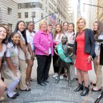 An earlier event was held with Girl Scouts and Assemblymember Rebecca Seawright (in pink jacket).