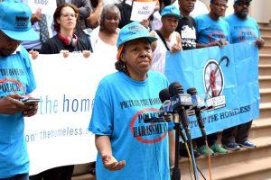 """""""We're still human beings,"""" remarked shelter resident Arvenetta Henry."""