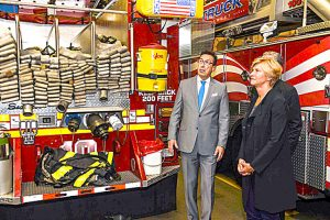 FDNY Commissioner Daniel A. Nigro (shown here hosting visitors) applauded the decision. Photo: FDNY