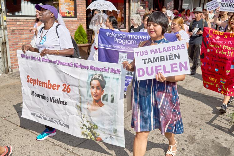 Margarita Guzmán, Executive Director, Bronx Family Justice Center (right).