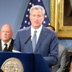 """""""The city of New York is ready to support the people of Puerto Rico,"""" said Mayor Bill de Blasio."""
