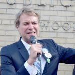 Public Advocate candidate David Eisenbach spoke.