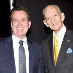Farrell with State Senator John Flanagan.