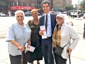 Councilmember Ydanis Rodríguez with supporters.