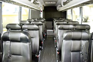 The buses offer additional legroom.