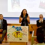 The announcement was made at the P.S. 8 Luis Belliard School.