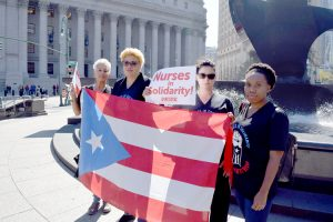 Members of the New York State Nurses Association (NYSNA).
