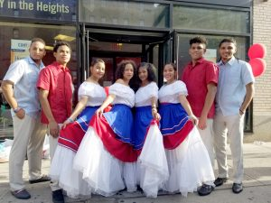Members of the Alianza's El Conjúnto Folklórico Ensemble prepare to perform. Photo: J. Perreaux