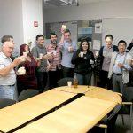 Columbia University members celebrate.