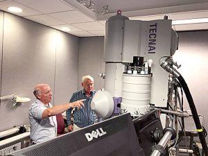 The electron microscope.