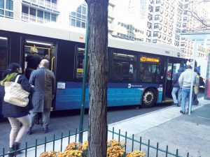 Advocates called for all-door boarding on every Metropolitan Transportation Authority (MTA) bus line.