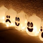 Get into the spirit with recycled jugs.