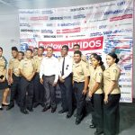 Congressman Adriano Espaillat (center) with George Washington Educational Campus NJROTC cadets. Photo: J. Perreaux