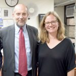"""The key is building trust,"" said HRA/DSS Commissioner Steven Banks (center), with Erica Strang, Outreach Director."