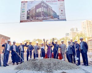 The groundbreaking was held in September of 2016.