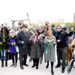 The ribbon-cutting. Photo: Malcolm Pinckney/NYCParks