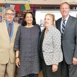 The announcement was made at P.S. 161.