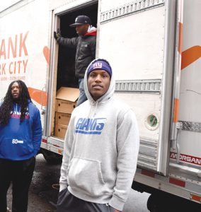 """These people need help,"" said Giants player Marquis Bundy."