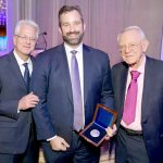 From left: Dr. Jeffrey Borenstein, President and CEO, Brain and Behavioral Research Foundation; Jason Cone, Executive Director, MSF-USA, and Dr. Herbert Pardes, President, Brain & Behavior Research Foundation Scientific Council, and Executive Vice Chairman, Board of Trustees, NewYork-Presbyterian. Photo: Chad Kraus