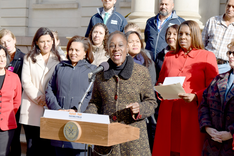 """Today, we send a clear message,"" said First Lady Chirlane McCray."