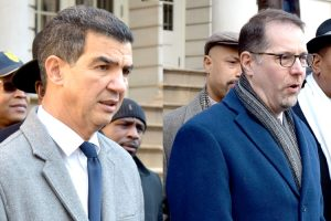 Councilmembers Ydanis Rodríguez and Mark Levine.