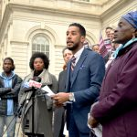 """""""This bill empowers us and it protects us,"""" said Councilmember Antonio Reynoso (center)."""