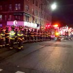 The fire brought 106 firefighters to the scene.