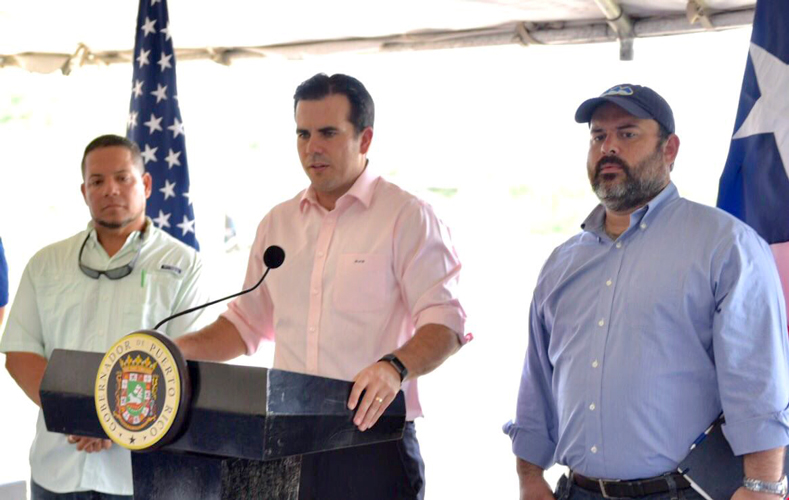 Puerto Rico's Governor Ricardo Rosselló.
