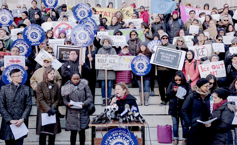 """[The] leadership must take action now,"" said City Council Speaker Melissa Mark-Viverito (center)."