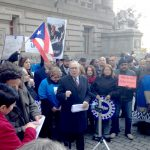 """""""What has happened in Puerto Rico is nothing short of tragedy,"""" said City Comptroller Scott Stringer (center)."""